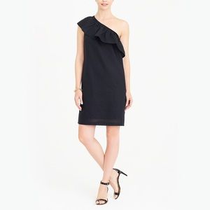 J. Crew Black Linen Shoulder Dress ~ NWT Large